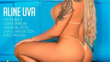 Aline Uva Nua - Sexy Aline Uva Pelada